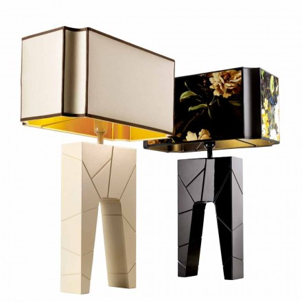 Grilli Zarafa gjorde Italien massivt trä nattduksbord / bordslampa