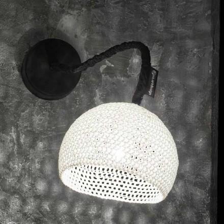 Plast- och bomullsvägglampa In-es.artdesign Modern A1-textur