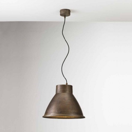 Industriell lampa i järn suspension Loft Media Il Fanale