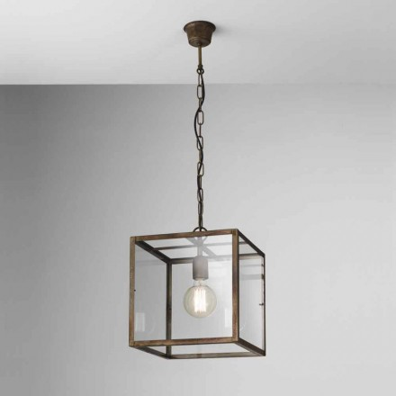 Industriell lampa i järn suspension London Il Fanale