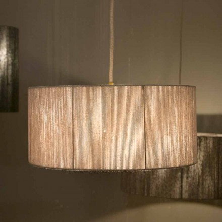 Modern hänglampa i ull tillverkad i Italien Evita