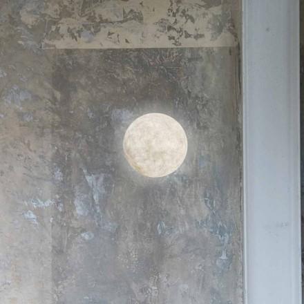 Modern vägglampa In-es.artdesign A. Månen i nebulit