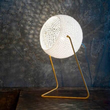 Moderna bordslampa In-es.artdesign Handgjord bomull T1 textur
