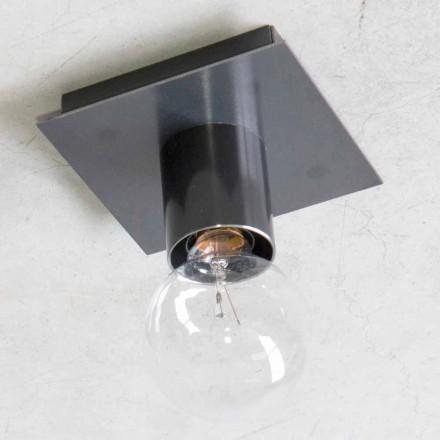 Handgjord vägglampa i svart järn eller Corten Made in Italy - Alabama
