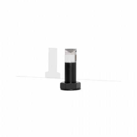 Modern bordslampa i svart metall och plexiglas Tillverkad i Italien - Dalbo