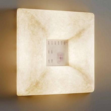 Vit nebulit vägglampa In-es.artdesign Dada Luna 1 design