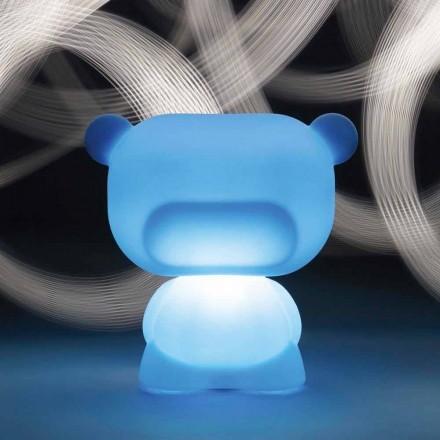 Lysande bordslampa i form av en Slide Pure Bear, tillverkad i Italien