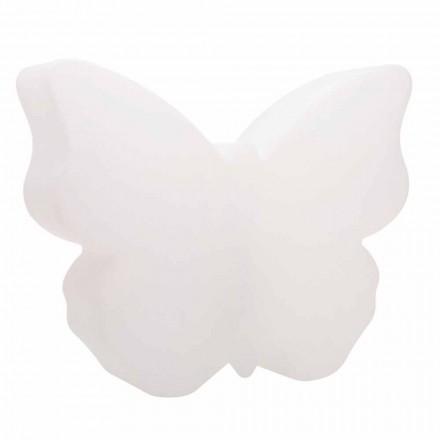 Bords- eller golvlampa för inomhus eller utomhus, vit fjäril - Farfallastar