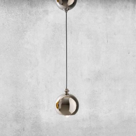 Modern hängande lampa i keramik tillverkad i Italien - Lustrini L5 Aldo Berrnardi