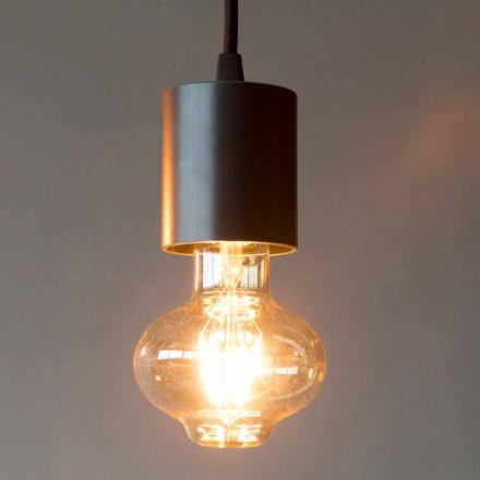 Handgjord järnhänglampa med bomullskabel tillverkad i Italien - Frana