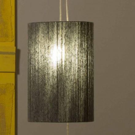 Suspended / golvlampa tillverkad av mässing och ull tillverkad i Italien Evita