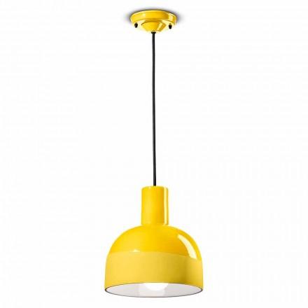Hängande lampa i modern stil i keramik tillverkad i Italien - Ferroluce Caxixi