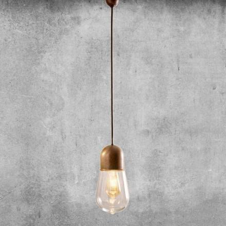 Hängande lampa i vintage design i mässing och glas - Aldo Bernardi Guinguette