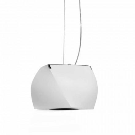 Hängande designlampa i metall och vit harts Tillverkad i Italien - Peking