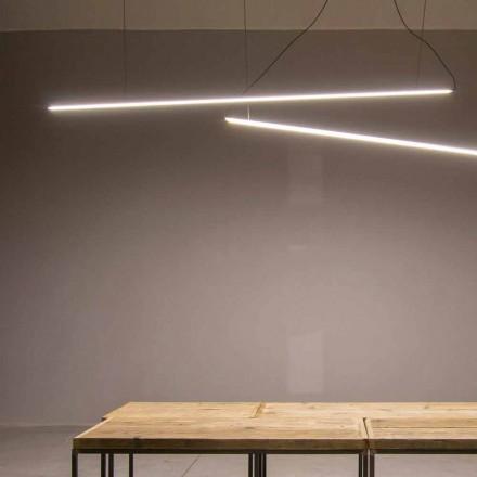 Hängande lampa handgjord i aluminium med LED-stång tillverkad i Italien - Ledda