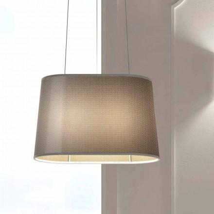 Hängande metalllampa med nät- eller linneskärm Tillverkad i Italien - Jump