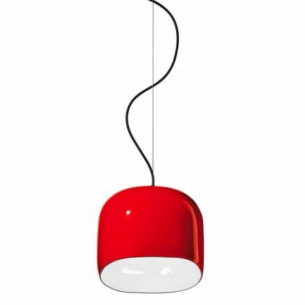 Suspensionslampa i modern stil i keramik tillverkad i Italien - Ferroluce Ayrton
