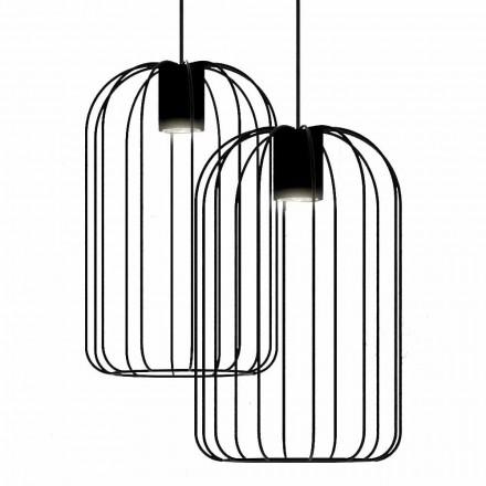 Modern upphängd lampa med metalltrådkonstruktion tillverkad i Italien - bur