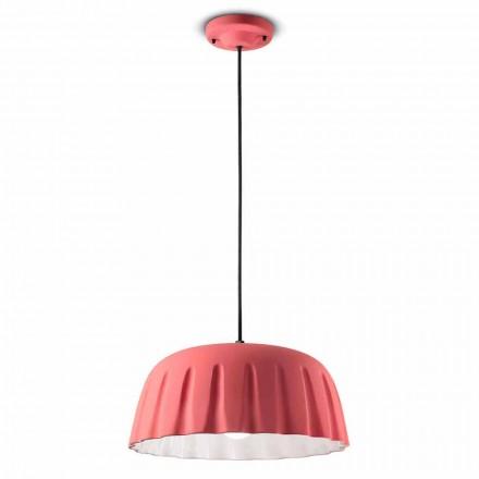 Vintage keramisk hängande lampa tillverkad i Italien - Ferroluce Madame Grès