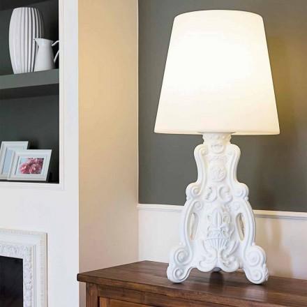 Färgad bordslampa Slide Lady of Love modern design gjord i Italien