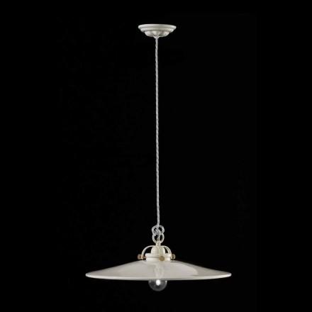 Vintage lampa i polerad keramik suspension och gyllene skruvar Betty