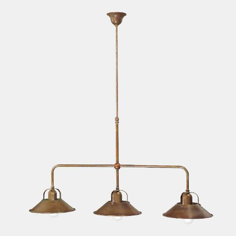 3 ljuskrona i mässing Vintage Design tillverkad i Italien - Cascina av Il Fanale