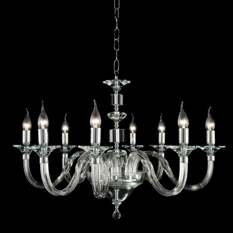 Chandelier 8 desgin lampor glas med Cristallo Ivy dekorationer