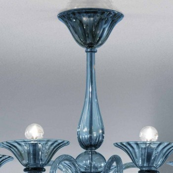 5 Lights Artisan Glass Ljuskrona från Venedig, tillverkad i Italien - Margherita