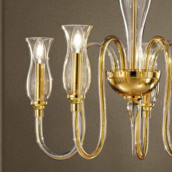 5 Ljuskrona Handgjord i Italien i venetianskt glas - Vittoria