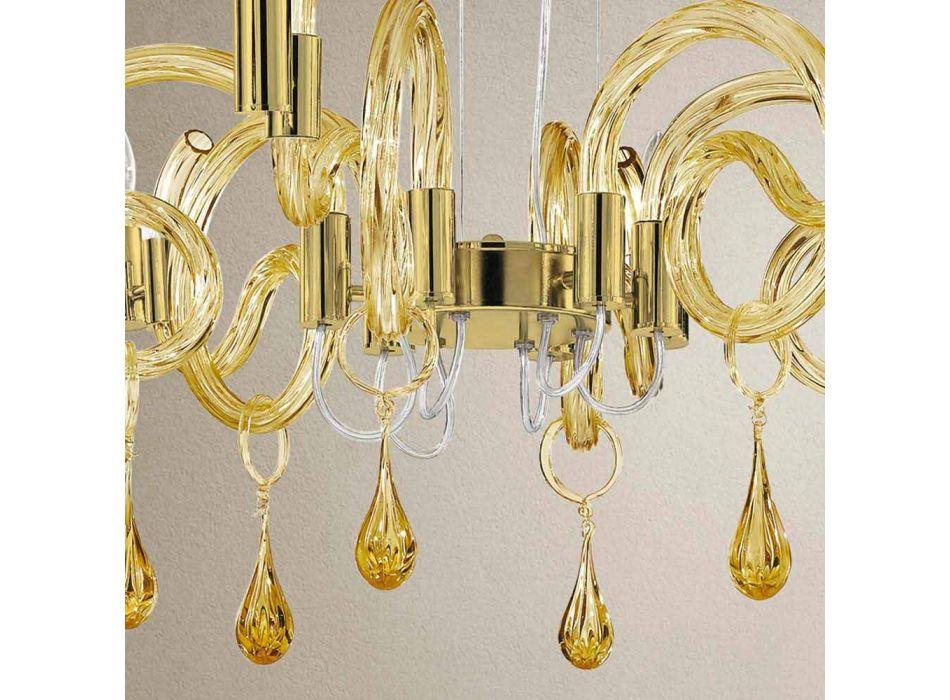 6 ljus handgjord ljuskrona i Venedig tillverkad i Italien - Bernadette