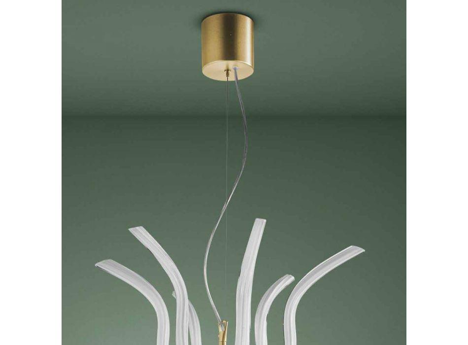 6 Ljus ljuskrona i venetiansk handgjord i Italien - Antonietta