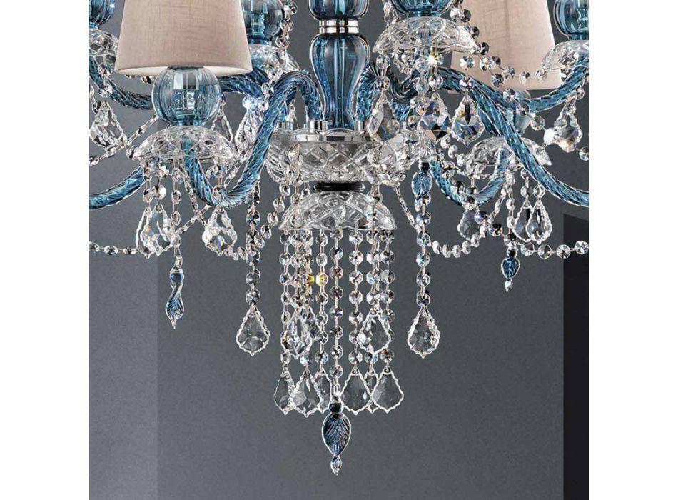 8 ljuskrona i venetianskt glas handgjord, tillverkad i Italien - Milagros