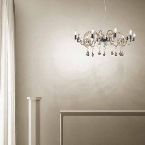 9 ljus handgjord ljuskrona i Venedig tillverkad i Italien - Bernadette