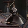 Ljuskrona klocka vintage keramik och metall Angela Ferroluce