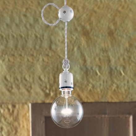 Ljuskrona rustik keramisk suspension Ferroluce