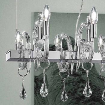 Artisan 6 Lights Ljuskrona i Venedig Glas Tillverkad i Italien - Bernadette