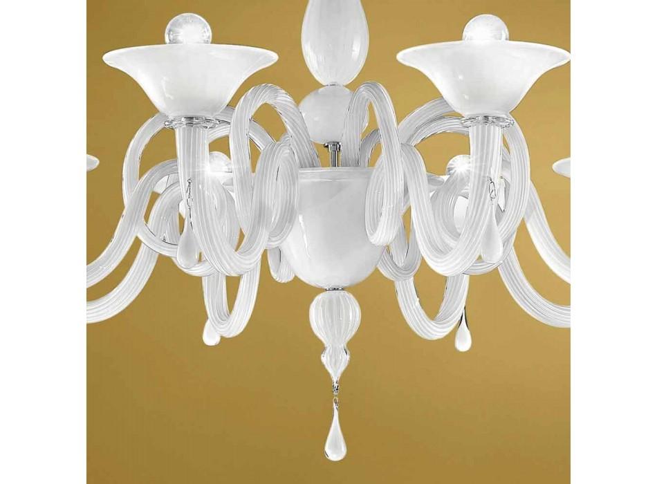 Artisan 8 Lights Ljuskrona i Venedigglas, tillverkad i Italien - Margherita