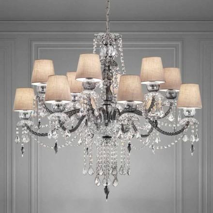 Artisan Venetian Glass 12 Lights Ljuskrona, tillverkad i Italien - Milagros