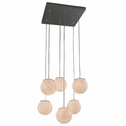 Modern design ljuskrona In-es.artdesign Sei Lune i nebulit