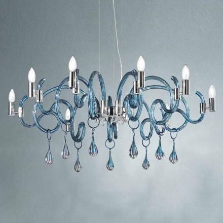Handgjord 9 Ljuskrona i venetianskt glas Tillverkad i Italien - Bernadette