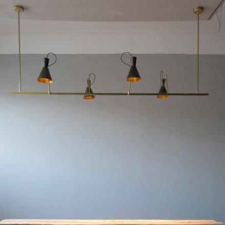 Handgjord ljuskrona i naturligt mässing och aluminium Tillverkad i Italien - Selina