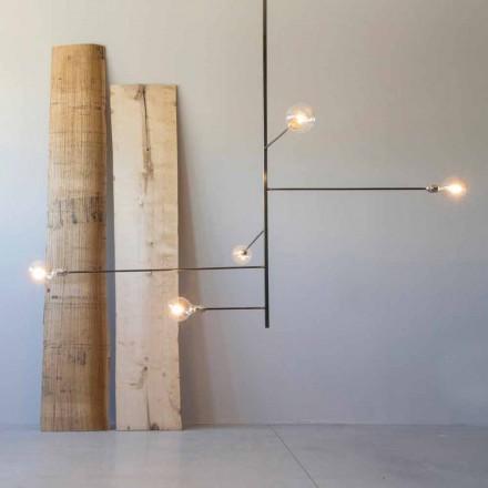 Modern handgjord ljuskrona med järnstruktur tillverkad i Italien - Tinna