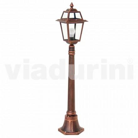 Utomhus låglampa tillverkad av aluminium, tillverkad i Italien, Kristel