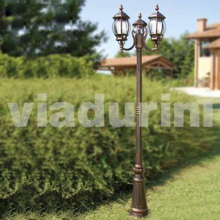 Utomhus lampor med två lampor tillverkad av aluminium, tillverkad i Italien, Anika