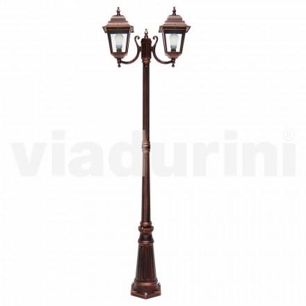 Utomhus tvålampa lampposto tillverkad av aluminium, tillverkad i Italien, Aquilina