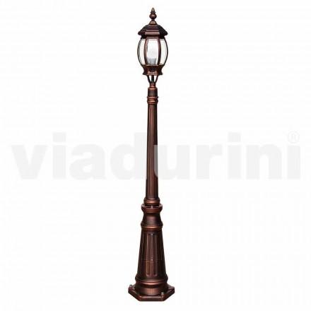 Utomhus lampa med en ljus tillverkad av aluminium, tillverkad i Italien, Anika