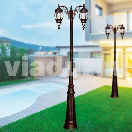Klassisk utomhuslampa med gjuten aluminium, tillverkad i Italien, Anika