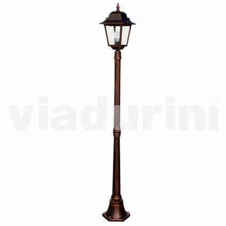 Klassisk trädgårdslampa med aluminium, tillverkad i Italien, Aquilina