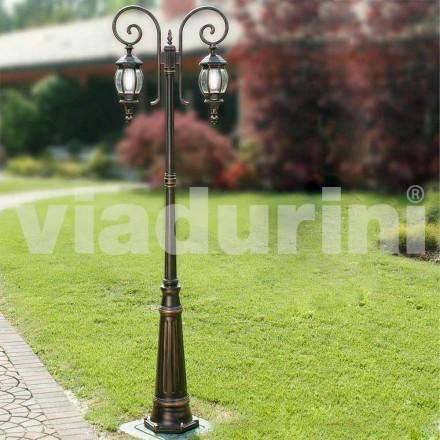 Trädgårdslampa med gjuten aluminium tillverkad i Italien, Anika