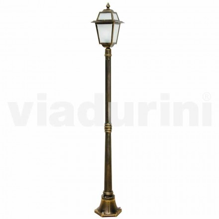 Klassisk utomhuslampa i aluminium, tillverkad i Italien, Kristel